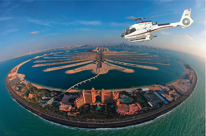 Voo de helicóptero em Dubai
