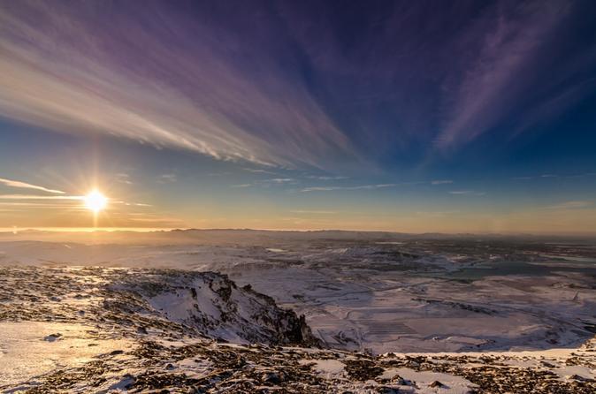 Passeio de helicóptero com pouso no cume saindo de Reykjavik