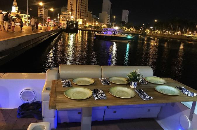 Cartagena Harbor Cruise with 4 Course Dinner and Wine