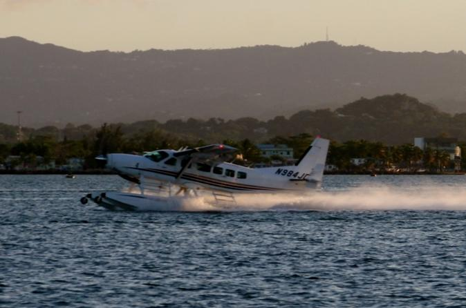 Champagne Sunset Seaplane Flight in San Juan