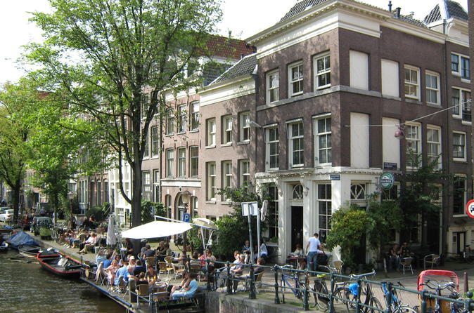 Excursão a pé matinal ou à tarde particular no bairro de Jordaan em Amsterdã