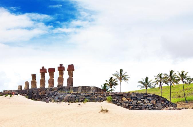 Excursão de dia inteiro na Ilha de Páscoa : Ahu Tongariki, Rano Raraku e Praia Anakena