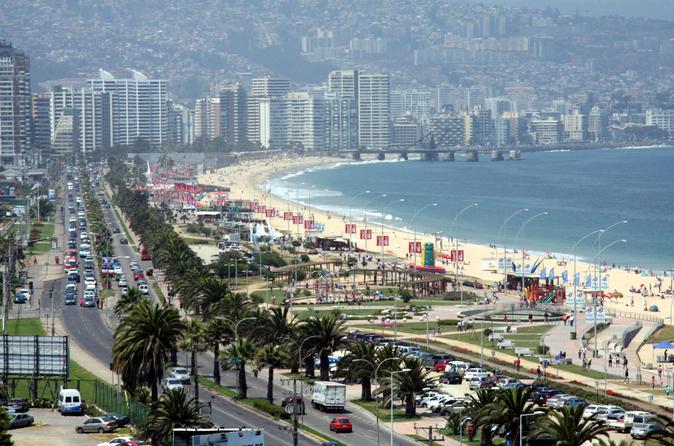 Excursão de meio dia para a Costa do Pacífico chilena: Viña del Mar, Reñaca e Concón