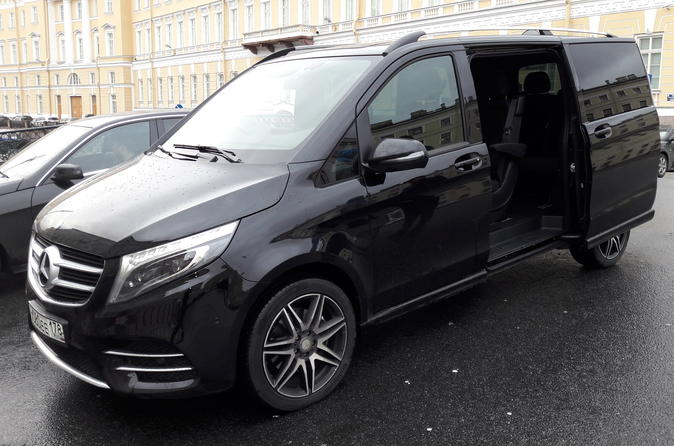 Hotel to Airport or Train Station Transfer by Minivan in St Petersburg