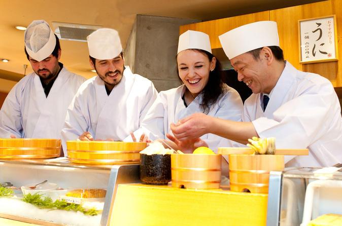 Excursão particular: Aula VIP de Sushi em Tsukiji com um chefe de cozinha