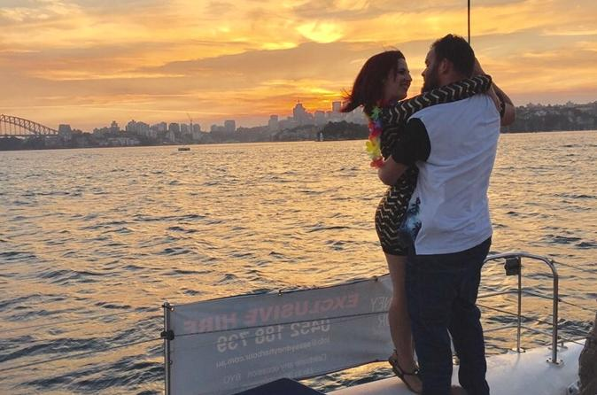 Private Romantic Catamaran Cruise for Two on Sydney Harbour