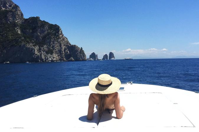 Capri to amalfi coast private boat excursion in capri 219250