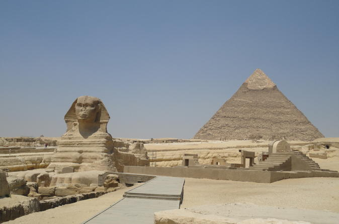 Half-Day Morning Giza Pyramids and Sphinx Adventure from Cairo including Egyptian Lunch