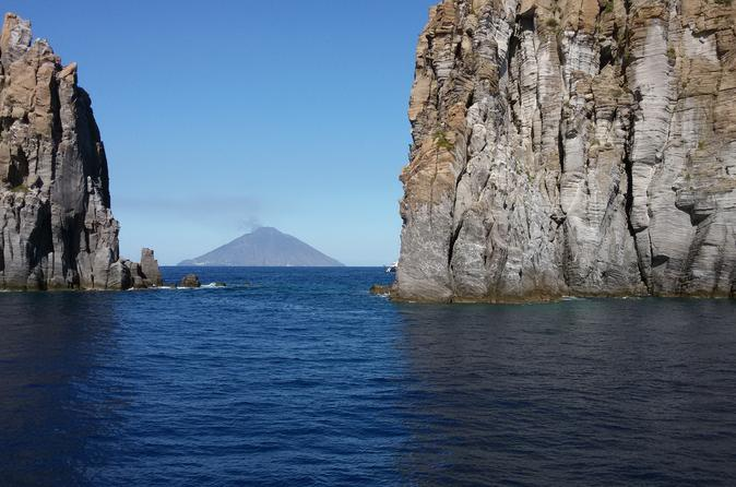 Aeolian Islands : Panarea and Stromboli from Cefalù