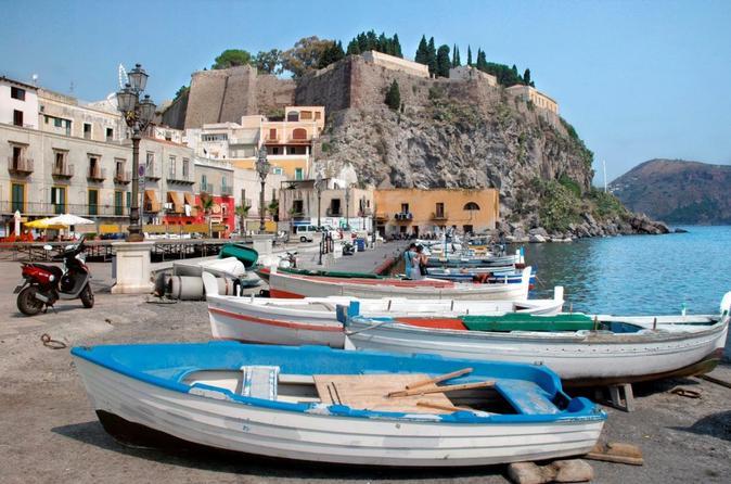 Aeolian Islands Tour to Lipari and Vulcano from Taormina