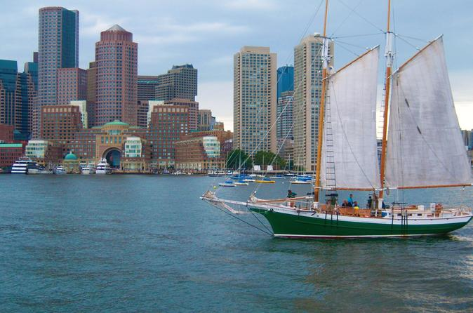 Tall Ship Sail In The Boston Harbor