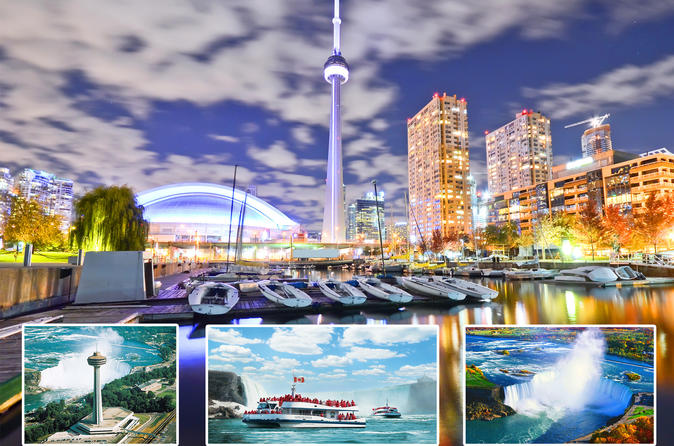 Canadian Deluxe Tour Niagara Falls Toronto Whole Day
