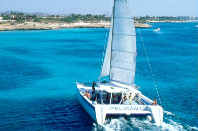 Aruba Champagne Breakfast and Lunch Cruise with Snorkeling