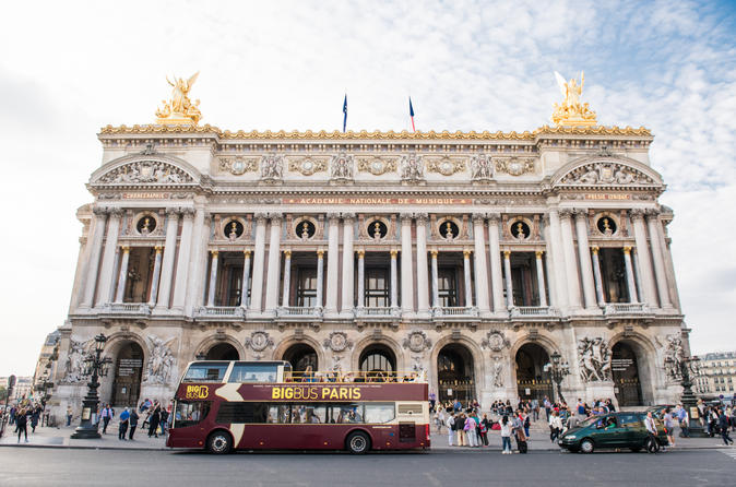 Skip the Line: Big Bus Hop-On Hop-Off and Opera Garnier Self-Guided Visit Ticket