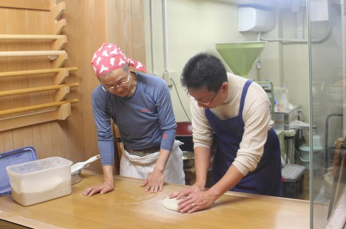 Soba Making at a Real Soba Restaurant in Sapporo with Sake Tasting