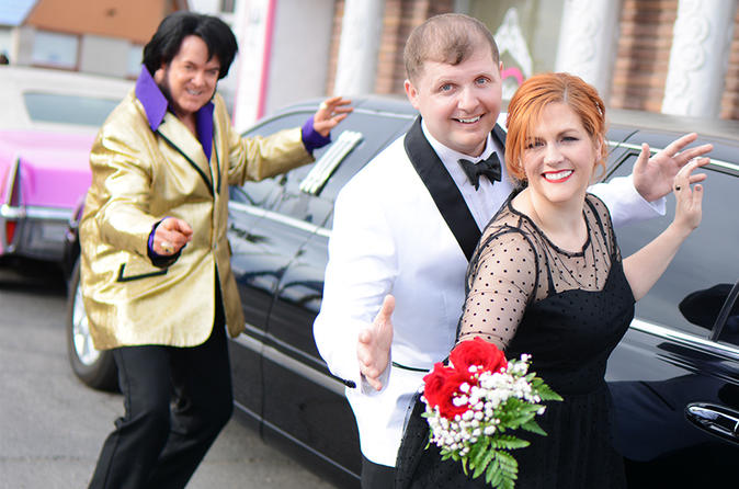 Elvis Wedding at The Little Vegas Chapel including Limousine Transportation