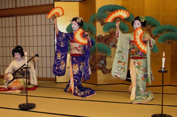 Apresentação Maiko com jantar Kaiseki em Quioto