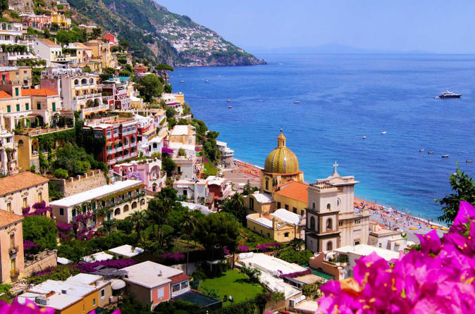 Private Shore Trip from Naples Dock to Amalfi Coast & Pompeii, Mercedes Vehicle