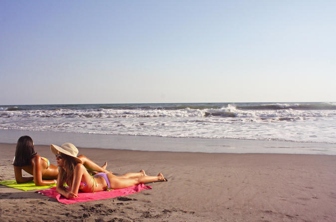Relaxing Beach Escape during San Salvador Stopover