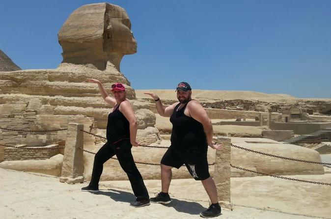 Half-Day private tour to the Great Giza Pyramids and Sphinx, Including Lunch