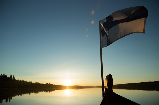 Evening Riverboat Cruise and Dinner from Rovaniemi