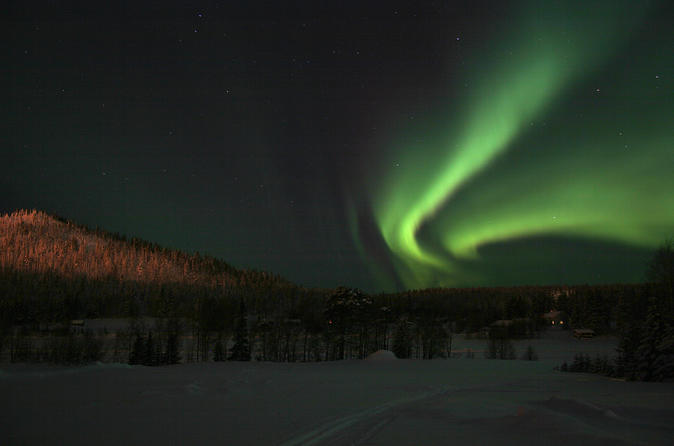 Lapland Northern Lights Safari by Snowmobile from Ylläs