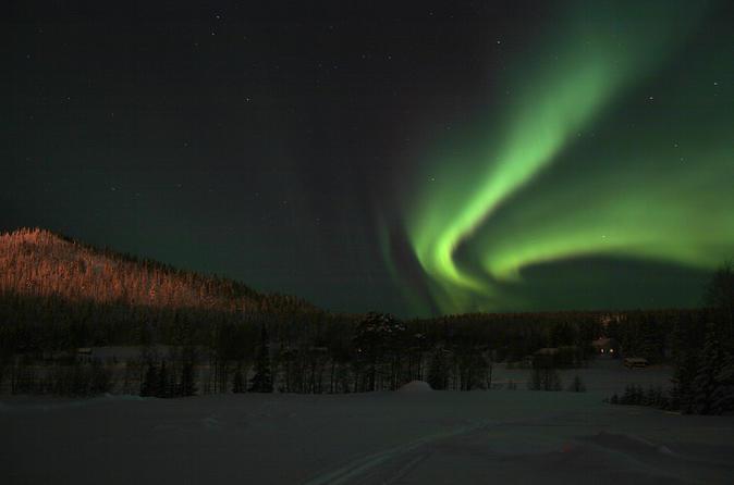 Lapland Northern Lights Safari af Snowmobile fra Ylläs