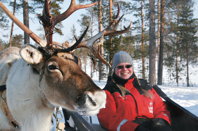 Lapland Snowmobile Safari to a Reindeer Farm from Rovaniemi