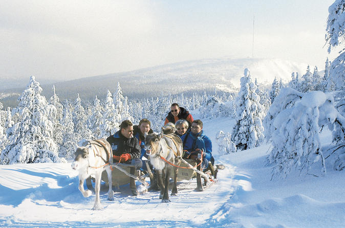 Lapland Snowmobile Safari to a Reindeer Farm from Saariselkä Including Reindeer Sleigh Ride