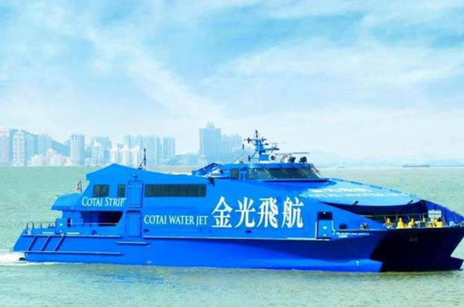Cotai Water Jet Round-Trip Ferry Tickets Between Hong Kong and Macau