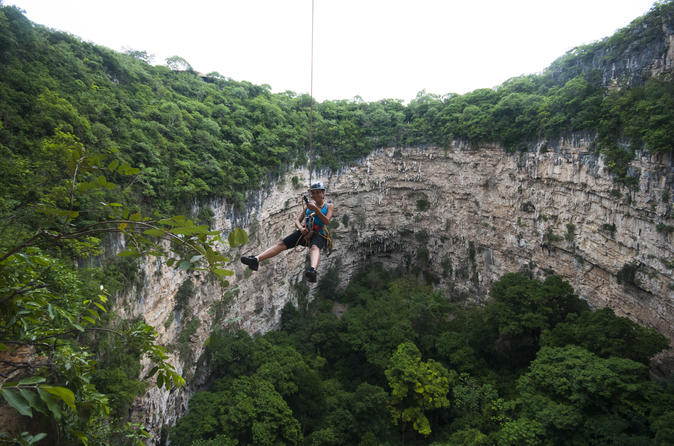 Chiapas Rappel Adventure At Sima De Las Cotorras And Aguacero Waterfall - Tuxtla Gutiérrez