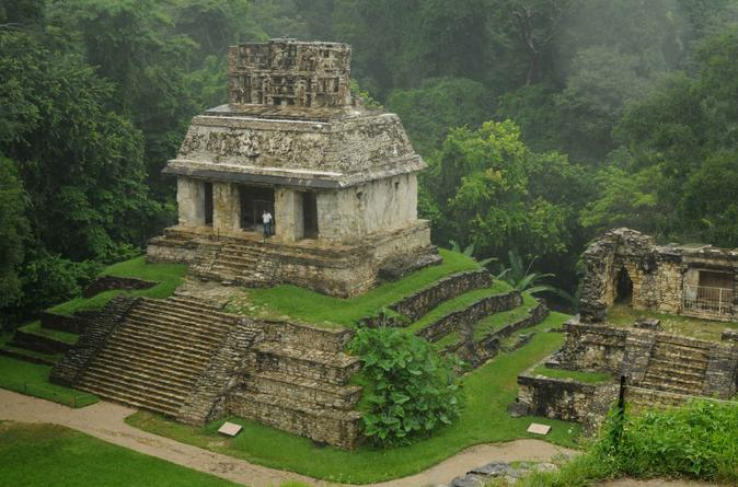 Palenque Mayan Ruins, Misol-Ha and Agua Azul Waterfalls Full Day Tour from Palenque