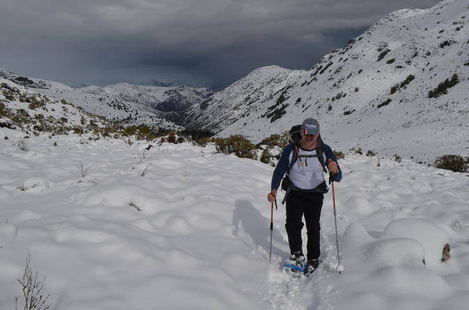 Snowshoes Hike Full Day experience in the Andes Mountain Range from Santiago