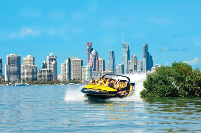 Gold coast jet boat ride from main beach in gold coast 167776
