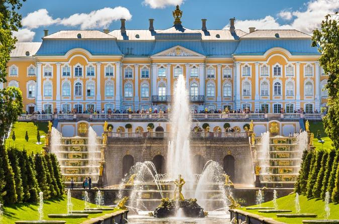 Peterhof palace and gardens tour with hydrofoil ride