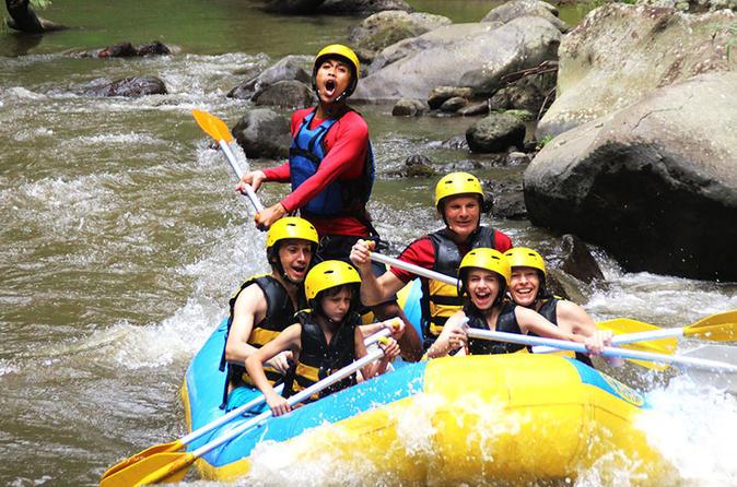 Ayung Rafting - Uma Pakel Swing - Tegalalang Rice Terrace - Monkey Forest - Kuta