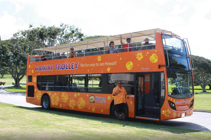 Waikiki trolley hop on hop off tour of honolulu in oahu 170167