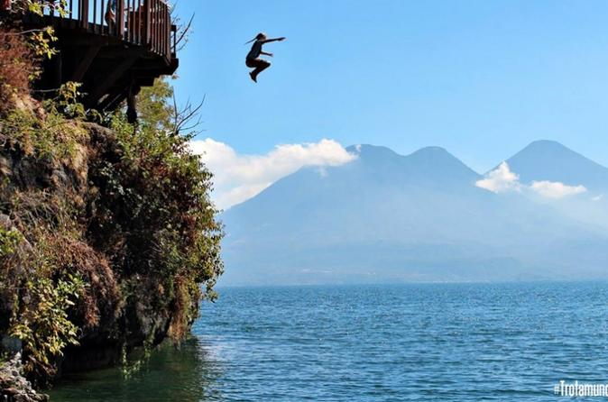 Kayaking And Jump In Cerro Tzankujil San Marcos La Laguna Lake Atitlán - Panajachel