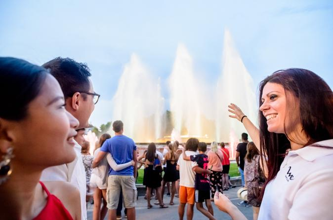 Barcelona Magic Fountain and Night Lights Premium Small Group Tour by Luxury Minibus