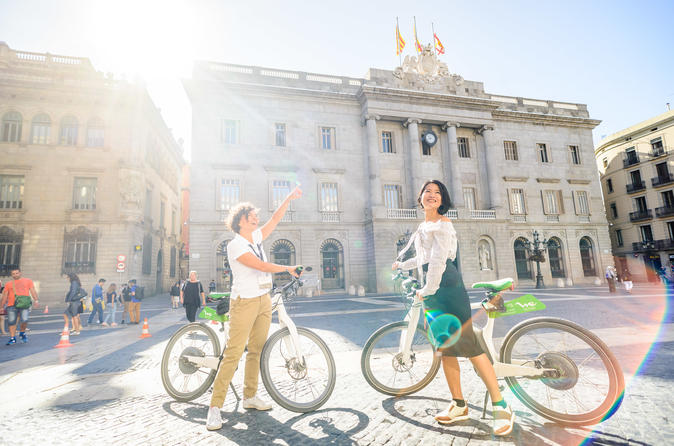 Ebike Tour with Cable Car Ride and Boat Cruise Barcelona Premium Small Group
