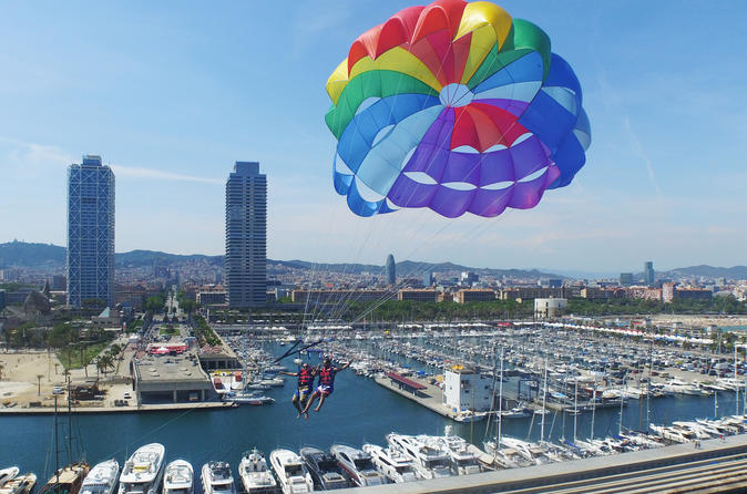 Sea Adventure: Parasailing, kayak or Paddle Surf in Barcelona