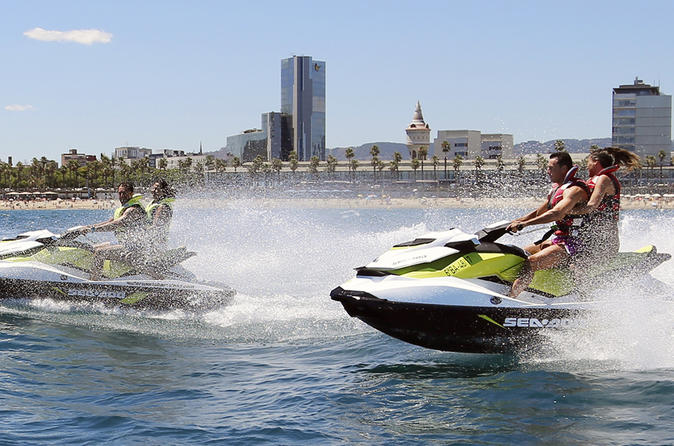 Sea Front Explorer: Segway and Jet Ski in Barcelona