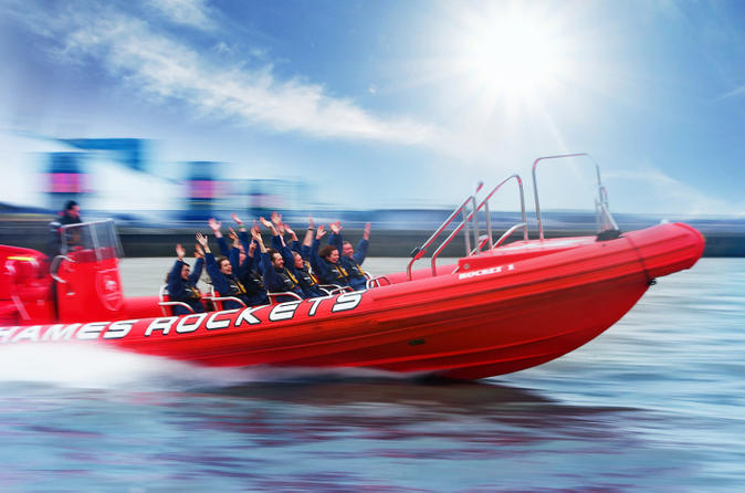 High speed thames river rib cruise in london in london 175091