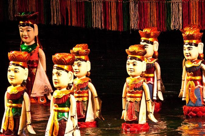 Private Evening Cyclo Tour With Water Puppet Show - Hanoi