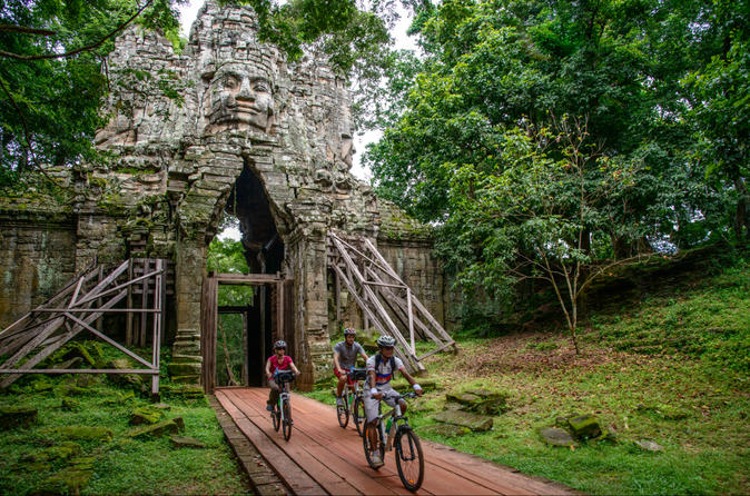 Angkor temples bike tour from siem reap in siem reap 179319