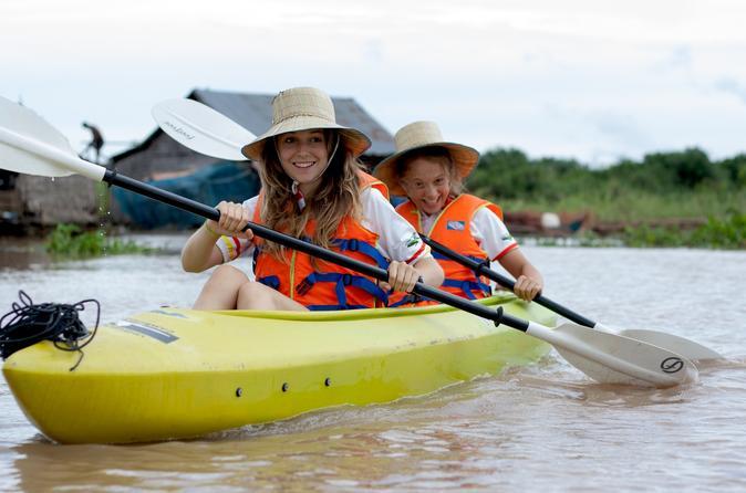 Siem Reap Countryside Bike and Kayak Day Trip