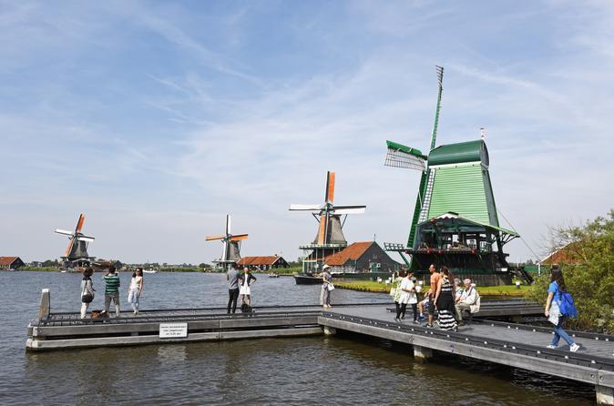 Excursão de meio dia saindo de Amsterdam para Zaanse Schans: moinhos de vento, Museu do Tamanco e fazenda de queijos