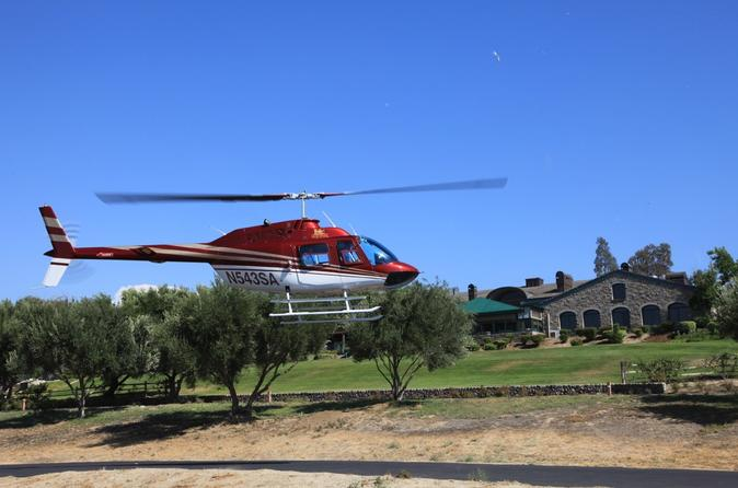 San Diego Helicopter Flight to Temecula Winery