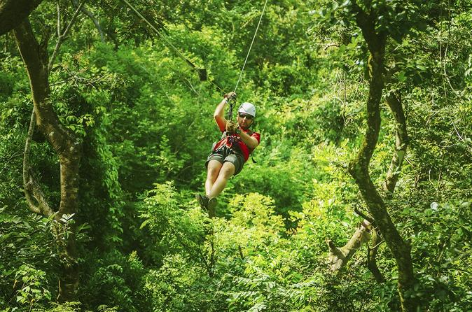 Zipline at Wild Ranch Adventure Park and Kayak Tour on the Chavon River from Santo Domingo