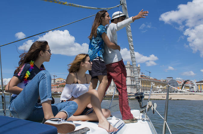 Relaxing Time in a sailboat  - A different way to look at Lisbon